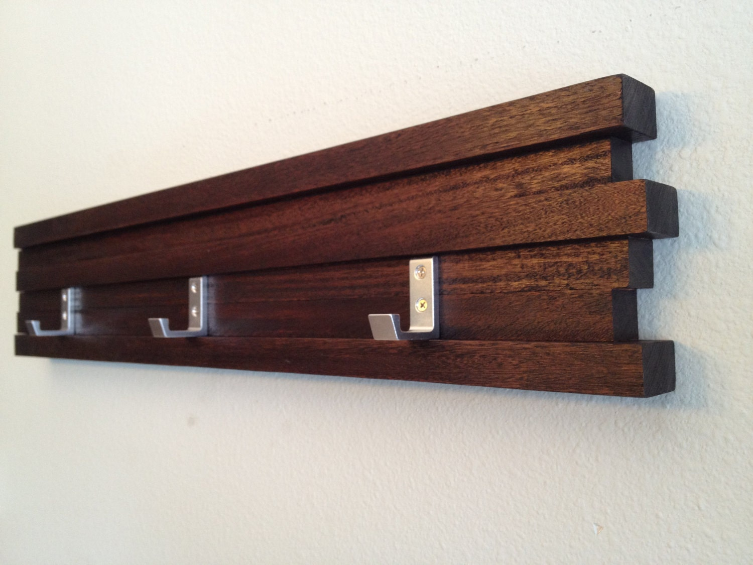 Coat Rack 3 Hook Modern Key Hat Minimalist Wall Hanging W 3