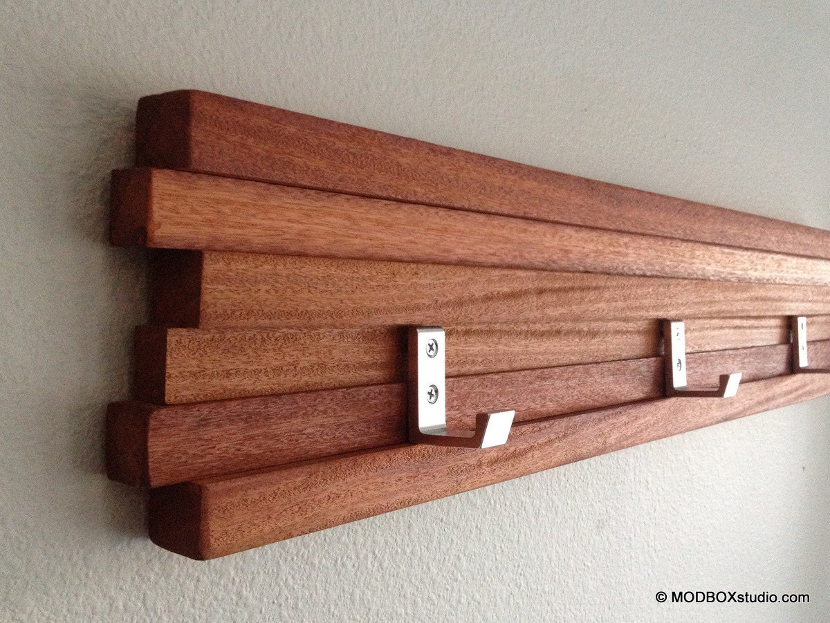 Coat Rack 5 Hook Modern Key Hat Minimalist Wall Hanging W 5
