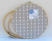 Cork board embroidery hoop creamy tan circle fabric 10 inch round