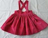 Velveteen girls suspender skirt size 12mo.