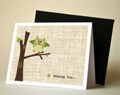 Custom Listing for larkandjuniper - Little Owl Note Cards, Personalized Thank you or Invitation Cards