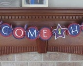 Welcome Home Red,White and Blue Military Banner