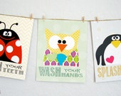 Children Prints, Bath Series/Rules Girly version