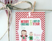 Personalized Christmas Gift Tags - Set of 16