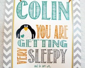 Nursery print- You are Getting very Sleepy, customized