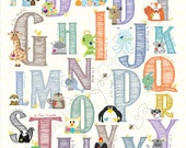 Alphabet nursery - A to Z in 11x14 - bunchofbees