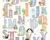 Alphabet nursery - A to Z in 11x14