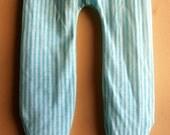 Vintage Blue Striped Footie Pajamas