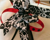 Headband Red, White, and Black Bow Toddler thru Adult Sizes