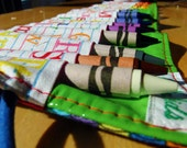 Crayon Roll - Boy or Girl -  Primary Colors - Crayon Holder