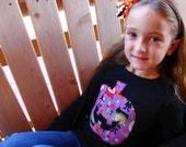Girl Halloween T Shirt - Jack-o-lantern - Pumpkin - Long Sleeve - Sizes 12m thru 12
