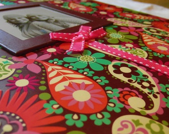 Premade Album Girly Brilliant 12x12 Ready Made Scrapbook with 3 Premade Pages