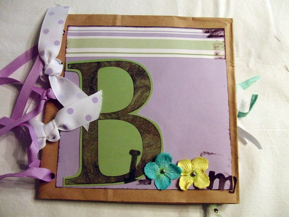 Paper Bag Album - Blooming Premade Album