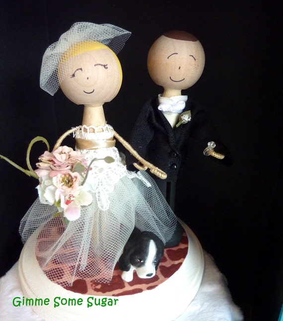 Wedding Cake Bride and Groom