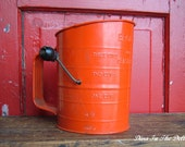 Vintage Orange Bromwell's Flour Sifter - Made In USA