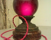 Red Lamp of Doom - look into the orb if you dare...