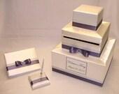 Elegant Custom Made Wedding Card Box-Guest Book/Pen set -any color combination
