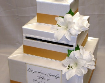 Elegant Custom Made Wedding Card Box-any design/color