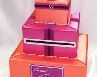 Elegant Custom Made Wedding Card Box-Summer Wedding