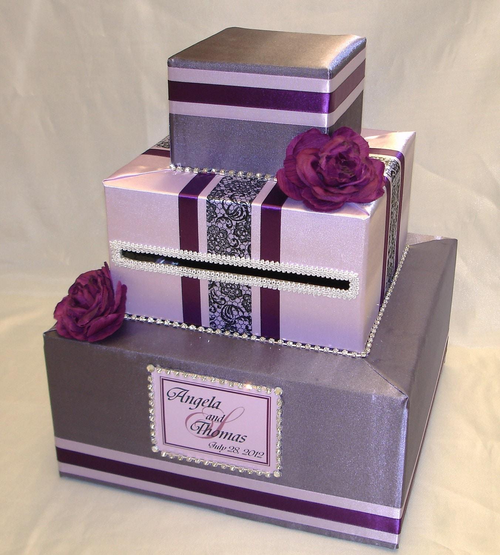 Wedding Card Box: Elegant Custom Made Wedding Card Box-any Color