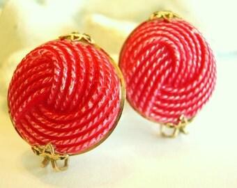 Vintage Shoe Clips Glass Pink Twist Gold 50's
