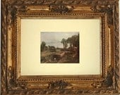 Vintage 1913 Art Print - Boat-Building Near Flatford Mill - John Constable - One Available - Wall Hanging - Frame NOT included