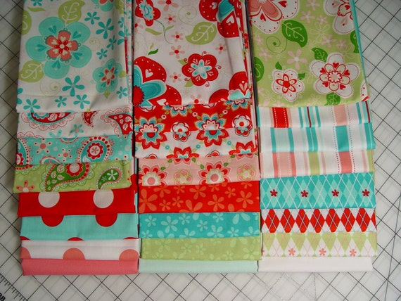 "Free Shipping Riley Blake Designs ""Sugar and Spice"" by The Quilted Fish. 100% cotton, 24 Fat Quarters Bundle"