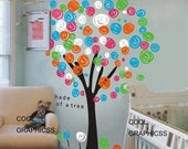 wall decal girl wall decal nursery wall decal baby wall sticker children wall decor home decor wall hanging flowers-Colorful Tree  decal