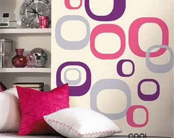 Colorful  Squares -3 Colors -Vinyl Wall Decal Sticker Art for children room kids nursery