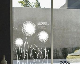 Abstract Dandelions -Vinyl Wall Decal Sticker Art