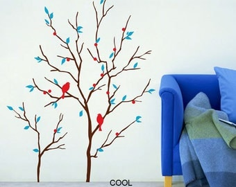 Wall Decals Trees and Birds -wall decal branch wall decals child nursery wall sticker wall decor room decor home decor art