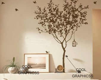 Love Tree - 63 Inches tall - vinyl wall decals tree wall sticker, mural,wall hanging nursery