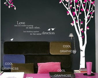 Birch Tree Forest - 102 inches - Vinyl Wall Decal Sticker Art, Mural,Wall Hanging