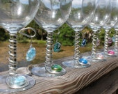 Hand Embellished Wine Glasses
