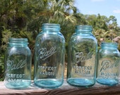 Vintage Blue Ball Canning Jars