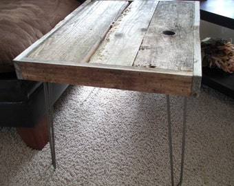Reserved for Luke - Modern Industrial Reclaimed Wood Coffee Table - Side Table - End Table - Sofa Table - Console table - Custom Sizes