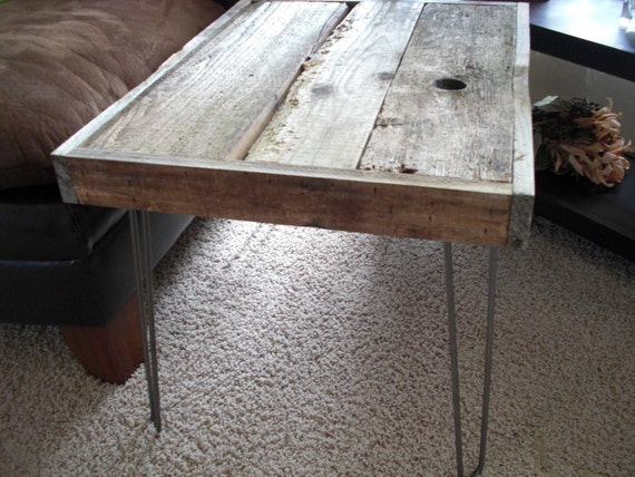 35% OFF SALE - Modern Industrial Reclaimed Rustic Wood Coffee Table - Side Table - End Table - Sofa Table - Console table - Custom Sizes