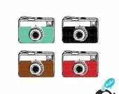 Vintage Camera Clip Art 01