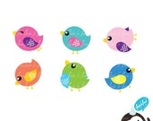 Cute Birds Clip art 01