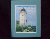 "8""x10"" Fine art print of ""Cheboygan Crib Lighthouse""."