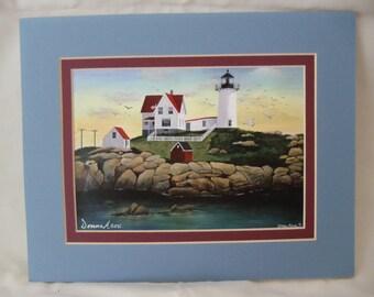 "Cape Neddick Lighthouse 5""x7"" Fine Art print"