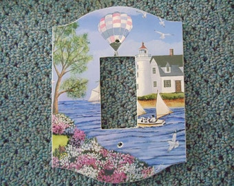 Victorian Bay Art Print on Toggle Light  Switch Cover