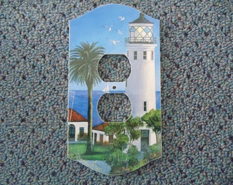 Art Print of Pt. Vicente Lighthouse on Plug cover