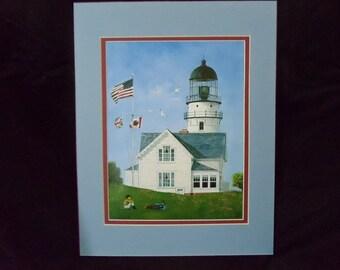 "8""x10"" Fine art print of ""Cape Elizabeth Lighthouse"""