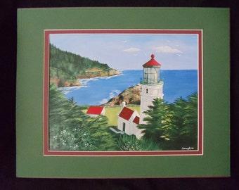 "Heceta Head Lighthouse 8""x10"" Fine Art Print"