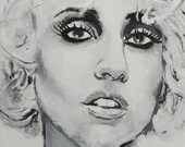 Custom Portrait - Reserved - Lady Gaga