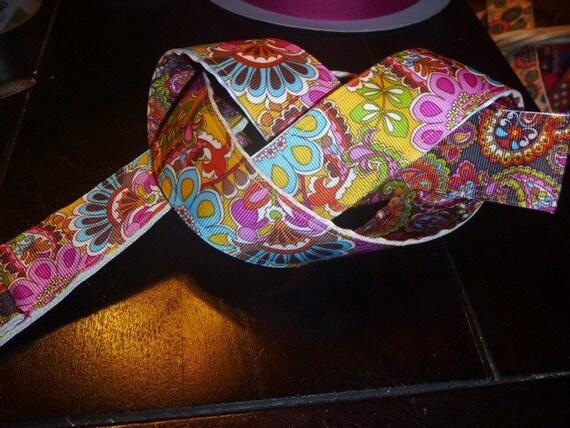 Kids Reversible Ribbon Belt Brown Paisley