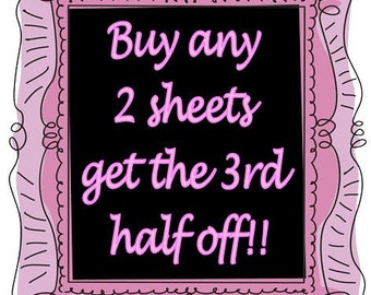 Buy any 2 image sheets get the 3rd half off