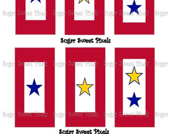 INSTANT DOWNLOAD Military Service Flag Domino Size Digital Image sheet