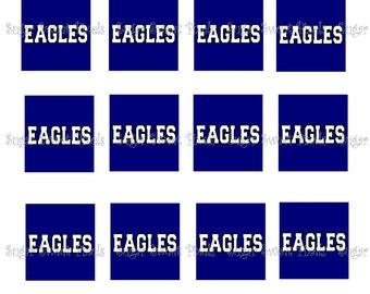 INSTANT DOWNLOAD Eagles Mascot School  Images for Scrabble tiles 4x6 image Sheet